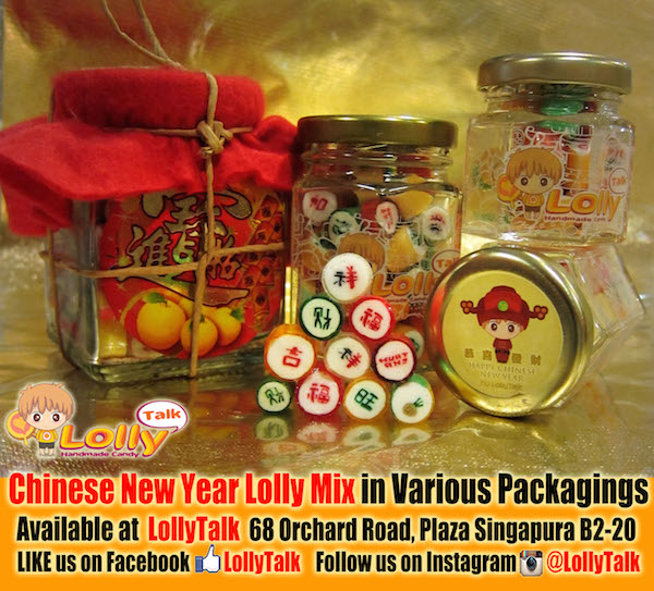 Chinese New Year lolly mix in various packaging
