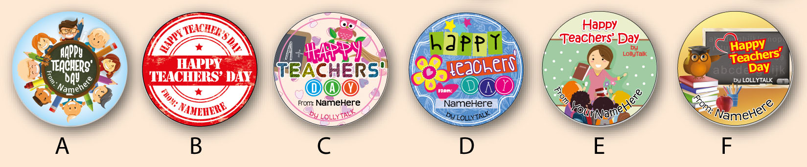 Teachers Day Labels 2016