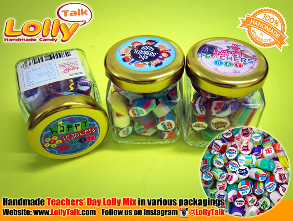 Teachers Day Lolly Mix in Square bottles