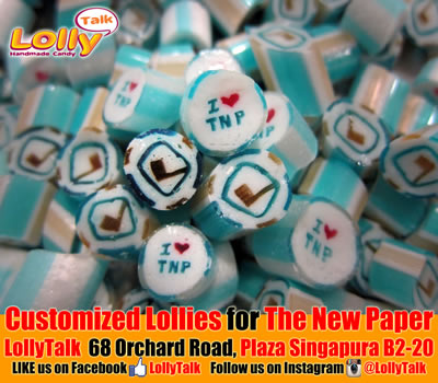 The New Paper Customized lollies SPH